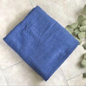 LP Vintage 80s Blue Cotton Twill Fabric